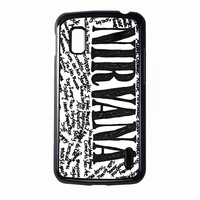 Nirvana all member and song titles collage FOR NEXUS 4 CASE **