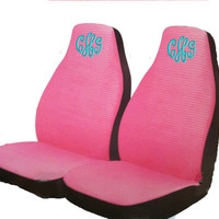 PINK Personalized Seat covers