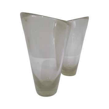 Pre-owned Per Lutken for Holmegaard Smoked Glass Vases
