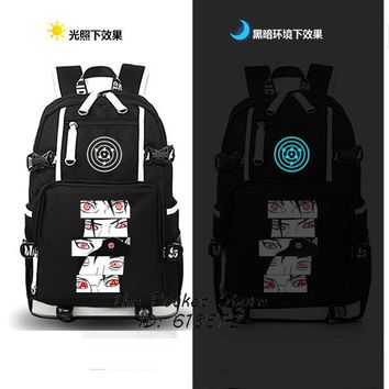 Japanese Anime Bag High Quality Japanese  Naruto Sharingan Backpack Uzumaki Naruto Cosplay Shoulder Bags Laptop Backpack Unisex Travel Bags AT_59_4