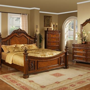 Lifestyle B0185 Queen Cherry Bedroom Set