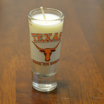 Texas Longhorns Tall Shot Glass Candle