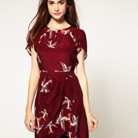 Warehouse | Warehouse Skylark Print Dress at ASOS