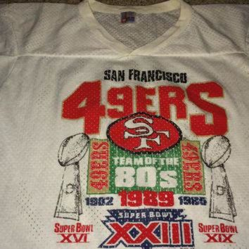 PEAPYD9 Sale!! Vintage 1980s SAN FRANCISCO 49ers Football Jersey Retro NFL Sf T shirt Made in