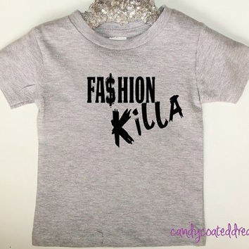 T-shirt or Onesuit U Pick Color fashion killer baby toddler kids swag stylish trendy shirts funny edgy