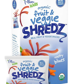 Plum Kids Organic Fruit and Veggie Shredz Rooty Blues 5-Count (Pack of 8)