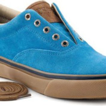 Sperry Top-Sider Striper CVO Suede Laceless Slip-On Sneaker RoyalBlueSuede, Size 7M  Men's