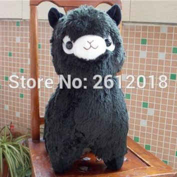 New Huge Kawaii Black ALPACA Llama Cute Plush Alpacasso Arpakasso Toy Gift 45cm