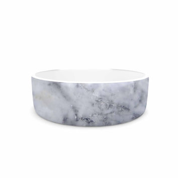 "Chelsea Victoria ""Marble"" Blue Black Pet Bowl"