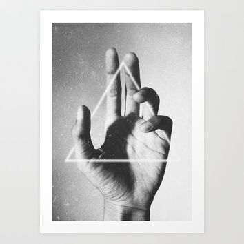 hand + triangle Art Print by sublimenation