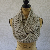 Ready To Ship Infinity Scarf Silver Gray Grey Thick Women's Accessory Infinity Scarf