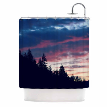 "Robin Dickinson ""Go On Adventures"" Skyline Shower Curtain"