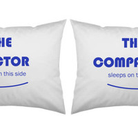Doctor Who, Tardis, Personalized, Custom, Pillowcase set, pillowcase, bride, groom, pillowcases, wedding gift