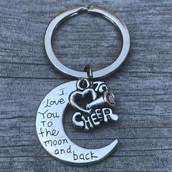Cheer Love You to the Moon and Back Keychain
