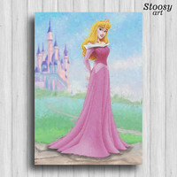 disney princess aurora print sleeping beauty decor