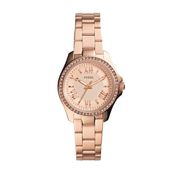 Cecile Small Rose Tone Stainless Steel Watch   Fossil
