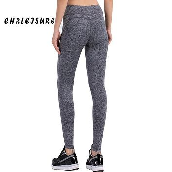 CHRLEISURE Fashion Cotton Women Leggings S-XL Leggings Knitted Soild High Push Up Hips Waist Elastic Warm Legging Women