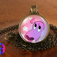 Steven Universe Lion Necklace Cosplay Glass Photo Pendant Jewelry Toy Gift