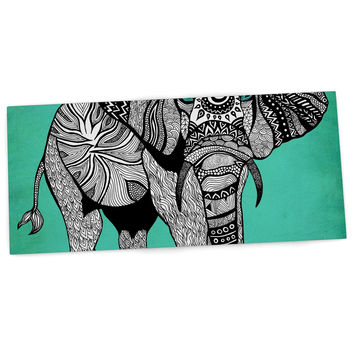 "Pom Graphic Design ""Elephant of Namibia Color"" Desk Mat"