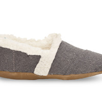 Charcoal Wool Youth Slippers