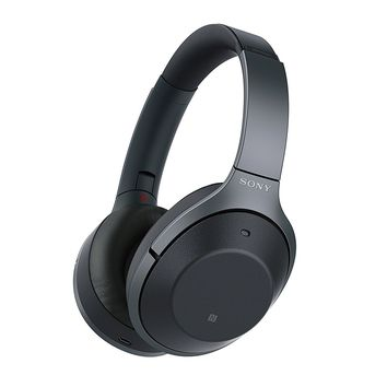 Sony Noise Cancelling Headphones WH1000XM2: Over Ear Wireless Bluetooth Headphones with Case - Black