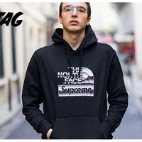 KUYOU The North Face Supreme Back hooded sweater Black