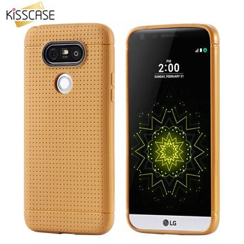 KISSCASE Honeycomb TPU Phone Case For LG Optimus G4 H815 H810 H811 G3 G5 Fashion Phone Accessories Cover For LG G4 LG G3 LG G5