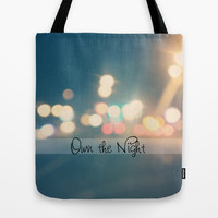 Own the Night Tote Bag by Beth - Paper Angels Photography