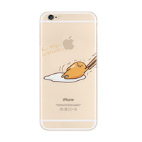 Gudetama Lazy Nope iPhone 6s 6 Plus Transparent Clear Soft Case