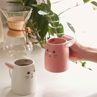 Pink And White Rabbit Mug Set