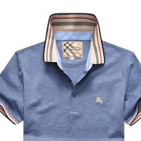 Burberry men's high-end solid color welfare POLO shirt half-sleeved T-shirt #3