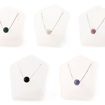 Vietguild's Necklaces  Charming Crystal Ball & 92.5 Sterling Silver Jewelry