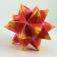 Origami Star Red and Yellow by CreativeLifeByEmily