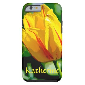 Yellow Tulip Love Art Tough iPhone 6 Case