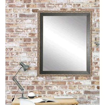 "Brandt Works Noble Black and Pewter Wall Mirror BM020L2 31""x49"""
