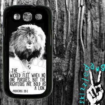 Lion Quote Bible Verse Samsung Galaxy S3 Cell Phone Case Cover Original Trendy Stylish Design