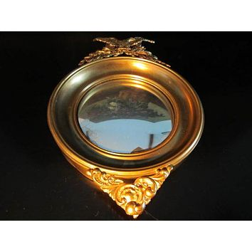 Eagle Crest Brass Convex Mirror Empire Style