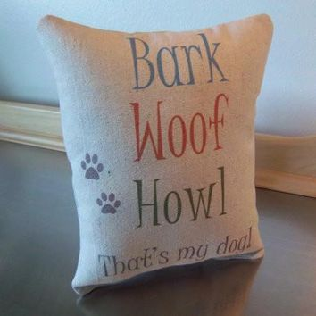 Gift for dog mom pillow dog dad gift cotton throw pillow cushion