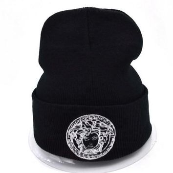 One-nice™ Perfect Versace Women Men Embroidery Beanies Winter Knit Hat Cap
