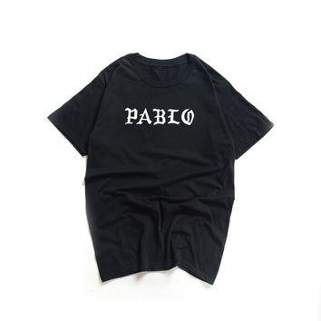 The Life Like Pablo T-Shirts Men Kanye West Season 3 Paul T Shirt Male O-Neck Cotton Short Sleeves Justin Bieber Hip Hop Tops