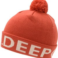 10 Deep Lower Third Red Pom Fold Beanie