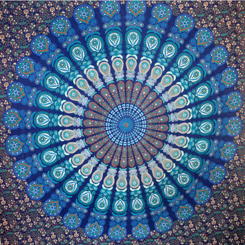 Indian Mandala Tapestry Queen Hippie Gypsy Wall Hanging Cotton Bedspread