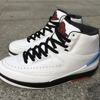Air Jordan 2 Pro  Leather white black Basketball Shoes 40-47