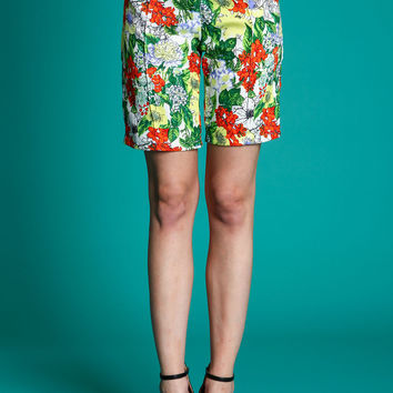 Tropical Crepe Shorts