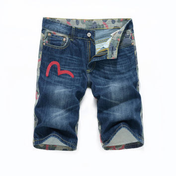 Summer Patchwork Denim Slim Jeans [10366807491]