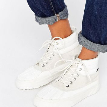Vans Sk8-Hi Del Pato Mte In Off White at asos.com