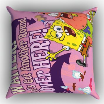 Patrick and Spongebob Quotes Friendship Z0921 Zippered Pillows  Covers 16x16, 18x18, 20x20 Inches