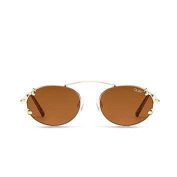 Quay Final Stand Gold Sunglasses / Brown Lenses