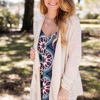 Casually Yours Beige Knit Cardigan