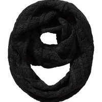 Old Navy Womens Cable Knit Infinity Scarf Size One Size - Black
